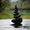 photo of balanced stacked rocks