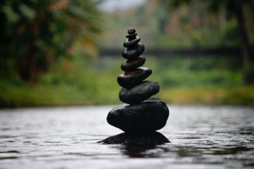 photo of balanced stacked rocks
