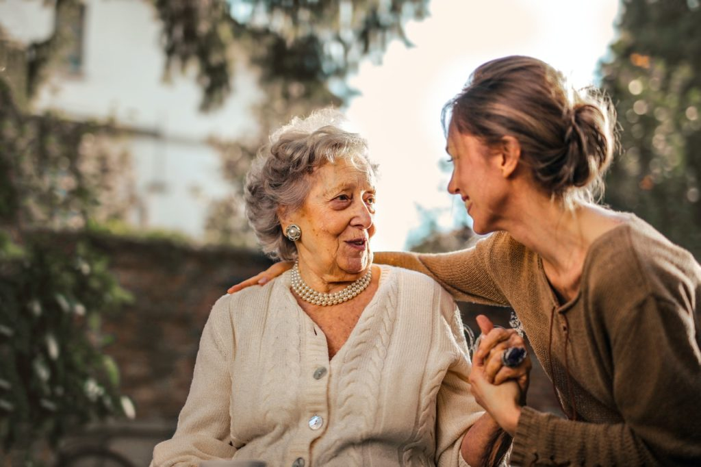 photo of daughter and elderly mother